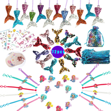 72pcs Mermaid Party Favor Supplies Birthday Themed Parties Gifts Kit Guests/Girls The Little Decorations