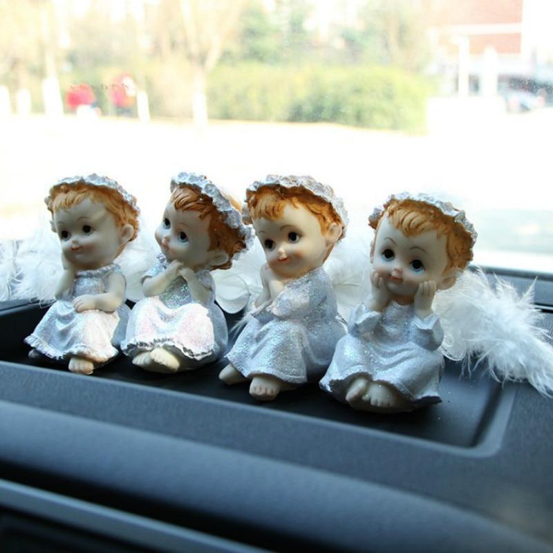 Ange voiture ornements belle aile voyage ange Cartoon. automobile ameublement Articles plume poupée décor Figure Figurine le cadeau