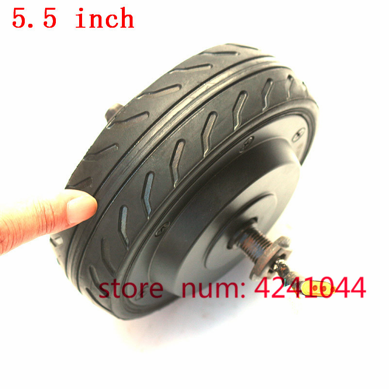 New 5.5 Inch Wheel Electric Scooter Motor 5.5x2 Inch Solid Tire With 24V Hub Motor Wheel Kit