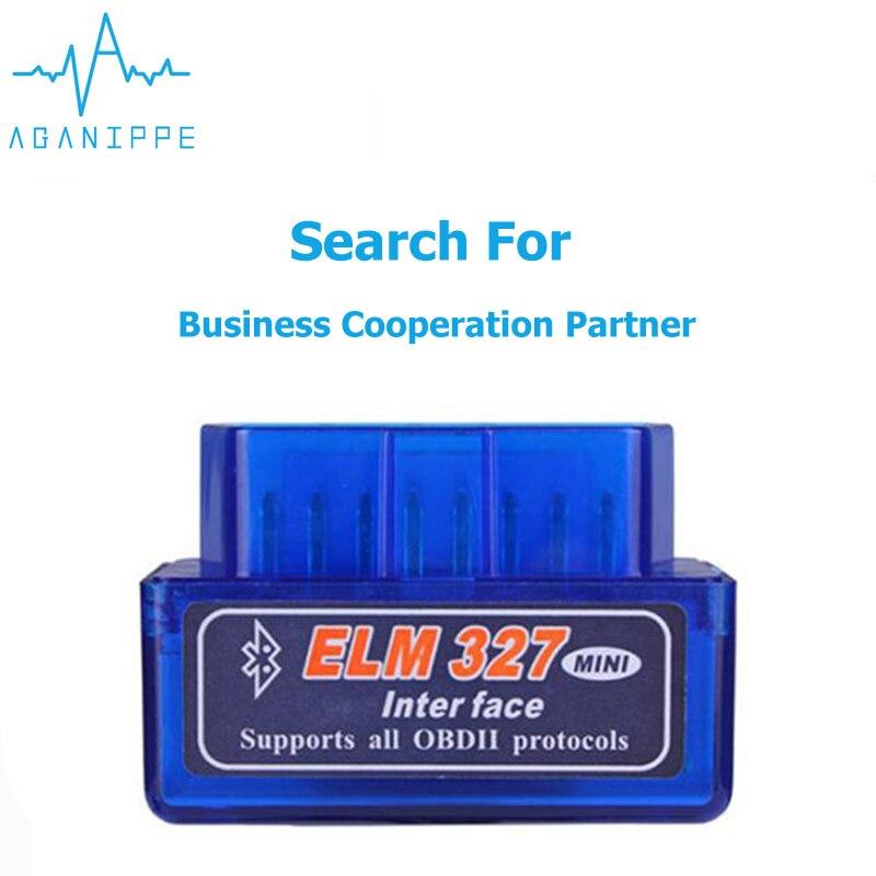 100 PCS Wholesale Price Elm327 V1.5 Bluetooth OBD2 Scanner Diagnostic Car Elm327 1.5 OBD 2 Elm 327 Car Diagnostic Tool ODB2