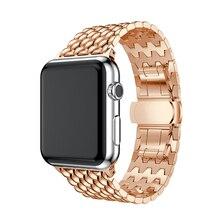 Fashion Stainless Steel Butterfly Buckle Watchband for Apple Watch Band 42mm 38mm for Apple Watch Strap Waterdrop Bracelet Belt