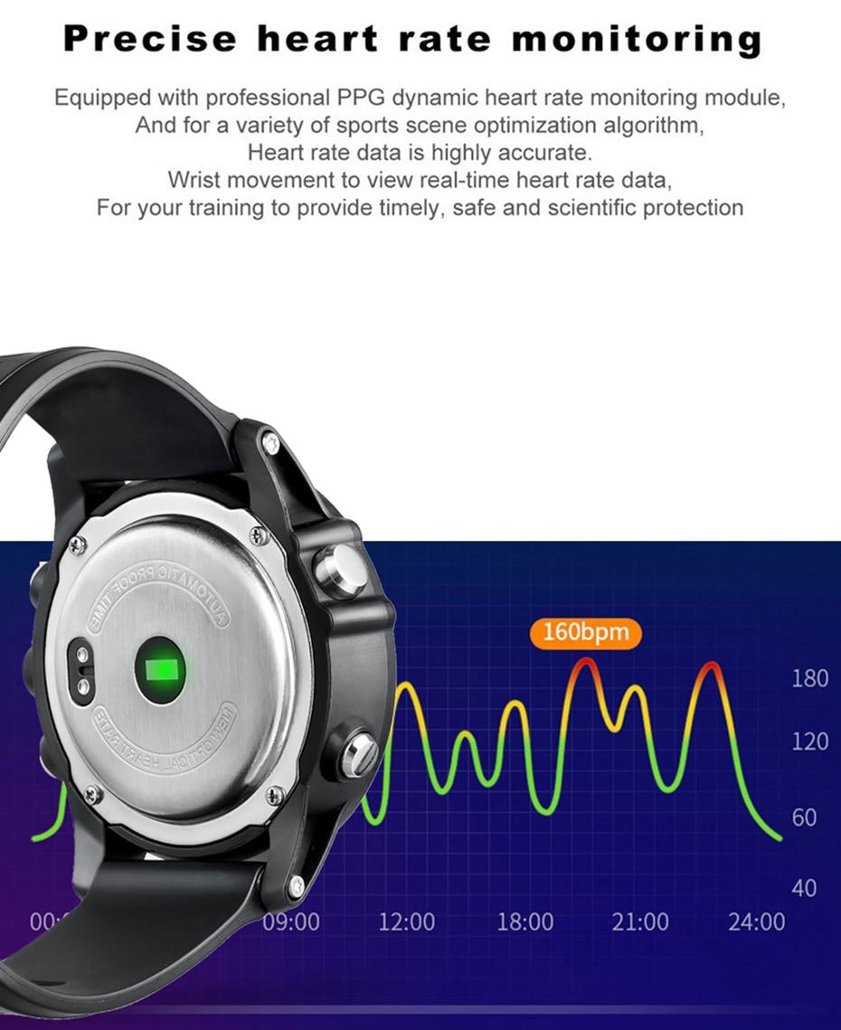 COLMI T2 IP68 Waterproof Heart Rate Monitor Push Message Call Reminder Clock Bluetooth 4.0 Brim Men Sport Smart Watch 8