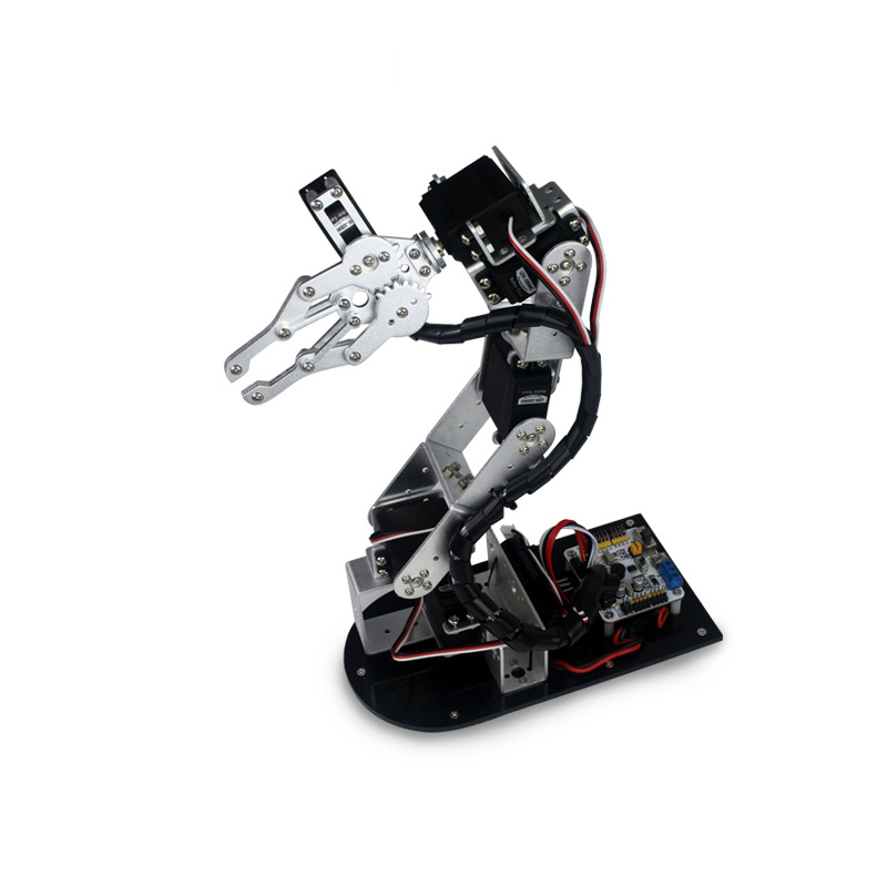 Industrial Robot 625 Mechanical Arm 100% Alloy Manipulator 6 Degree Robot arm Rack with 6Pcs LD-1501MG Servos + 1 Alloy Gripper industrial robot 698 mechanical arm 100% alloy manipulator 6 axis robot arm rack with 6 servos