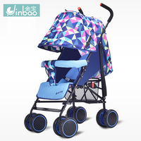 Baby stroller factory direct sell baby lightweight cart can be lying four wheels can be folded easy carry kidstravel with gifts