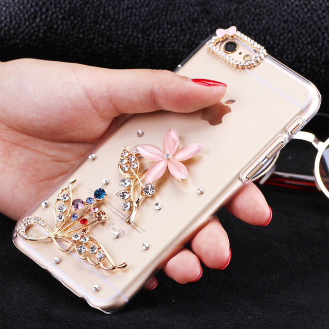 Mixed Order Cell Phone Case Diy Charms Alloy Crystal Lotus Flowers