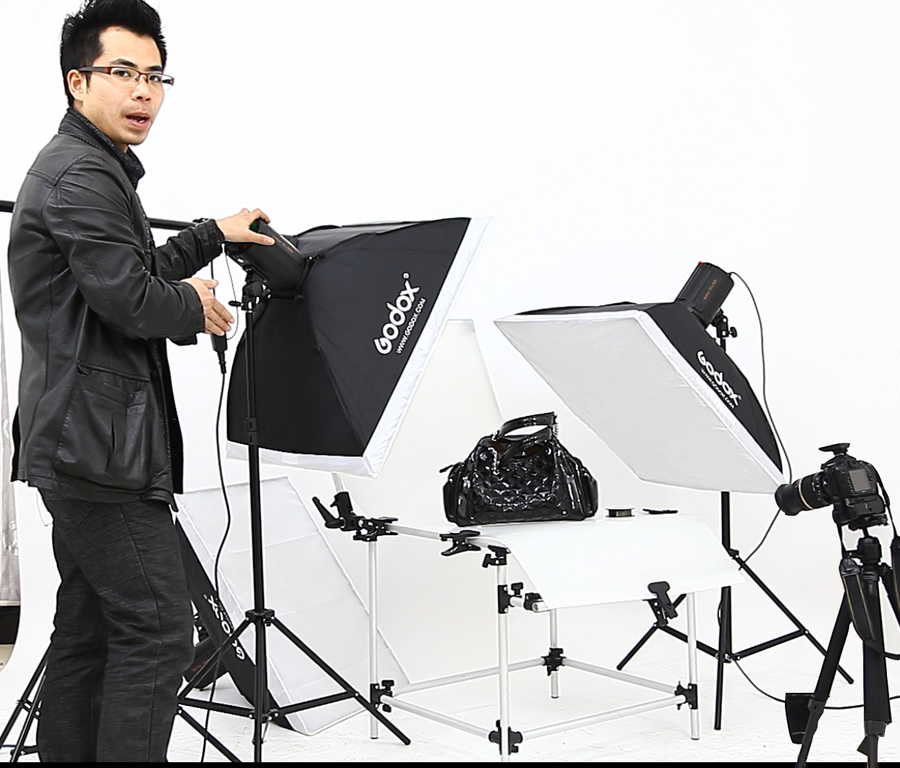 Flash photography bags photographic equipment set