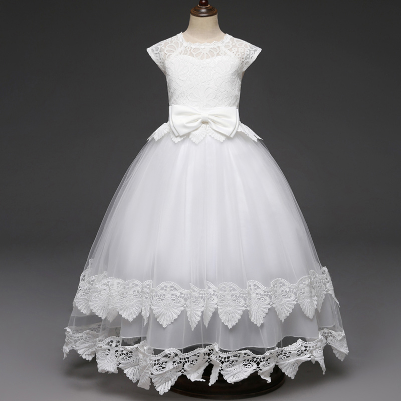 3d6fbd9880 Fancy Kids Bridesmaid Lace Girls Dress For Wedding Party Dresses Evening  Girl long Costume Elegant Princess Children Formal Gown