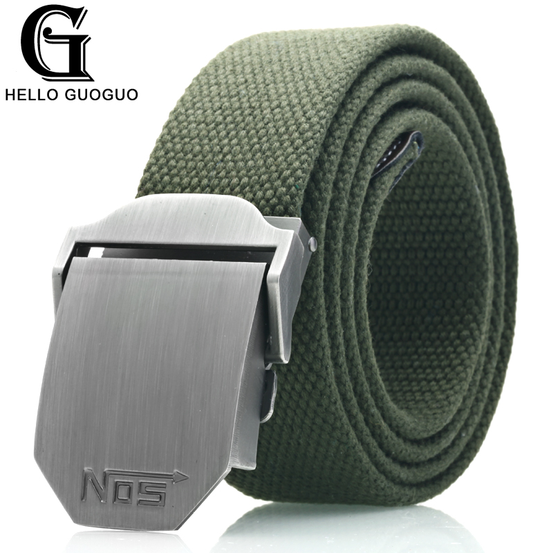 Hot male tactical   belt   Top quality Elastic Canvas   belts   for men NO5 Automatic buckle Outdoor Sport Long 160cm White Weave straps