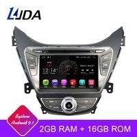 LJDA Android 9.1 Car dvd player for Hyundai Elantra/Avante/I35 2011 2012 2013 2 Din Car Radio gps navigation stereo multimedia