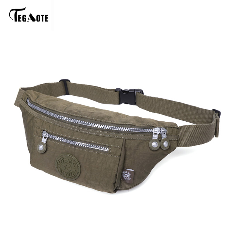 TEGAOTE Military Men Waist Bags Nylon Waterproof Waist Bag Men Fanny Waist Pack Bag Army Green Travel Bum Bolsa Hip Bag