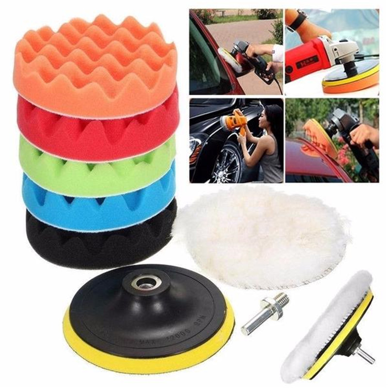 Hot 8Pcs/Set Car Polishing Pad 3/4/5/6 Inch Sponge Buffing Waxing Boat Car Polish Buffer Drill Wheel Polisher Removes Scratches