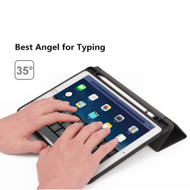 Ipad Pro 12.9 Case with Pencil Holder Smart Flip Case 5