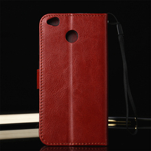 Orgininal Genuine Leather Cover Case for Xiaomi Redmi 4X Flip Coque Wallet TPU Funda