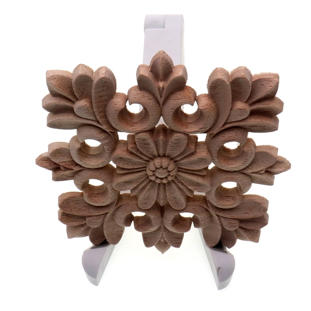 RUNBAZEF Vintage Unpainted Wood Carved Decal Corner Onlay Applique Frame Home decoration accessories Furniture Wall Decor Crafts 4