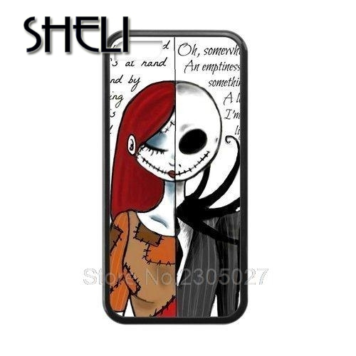 sheli romantic nightmare before christmas half sally half jack phone case cover for iphone 5 5s - Jack From The Nightmare Before Christmas
