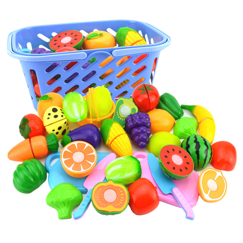 6Pcs/Set Simulation Plastic Fruit Vegetables Children's Kitchen Toys for Children Pretend Play Toy Fruit Store Decoration image