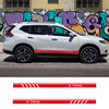2PCS Racing Sport Door Vinyl Side Stripes Car Styling Body Decor Graphics Sticker For Nissan X-Trail promo