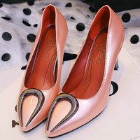 Womens Pointed Toe Shallow Pumps Shoes High Heel Plus Size 33 46 Womens Prom Wedding Rose Gold Shoes