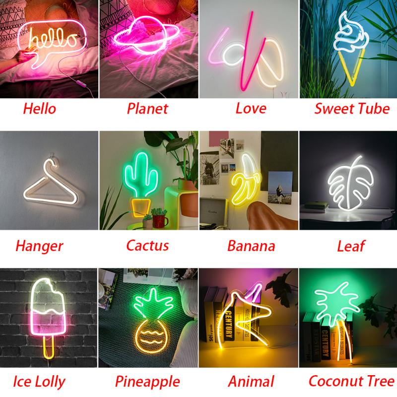Wall-Decorative Neon-Signs Light-Art Window-Words Party-Bar Birthday For Shop