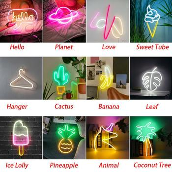 Wall Hanging Neon Lights Room Wall Birthday Led Neon Light Art Wall Decorative for  Party Bar Decor Shop Window Words Neon Signs