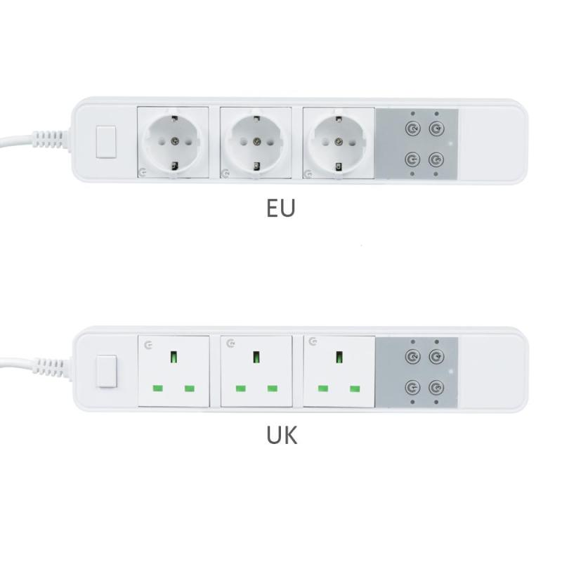 Smart Socket WiFi EU UK Plug 3 AC Outlet App Remote Control Work with Amazon Alexa Google Home IFTTT Timing Energy-saving Socket ...