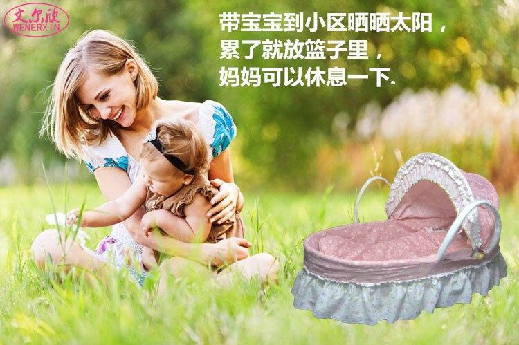 Neugeborenen baby stubenwagen wiege bett stroh baby hand korb