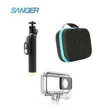 Сэнгер водонепроницаемый self палку мешок камеры bluetooth пульт дистанционного управления 3in1 комплект для xiaomi yi 4 k действий камеры аксессуары
