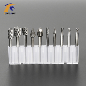 Image 4 - TUNGFULL 10pcs/lot HSS Routing Router Bits Burr Rotary Tools Suit Dremel Rotary Wordworking Tool Engraving Dremel Accessories
