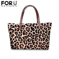 Waterproof Street Zipper Shoulder bag for Women Girl Leopard Printing Designer Shopping HandBag Female Neoprene Protable Purse