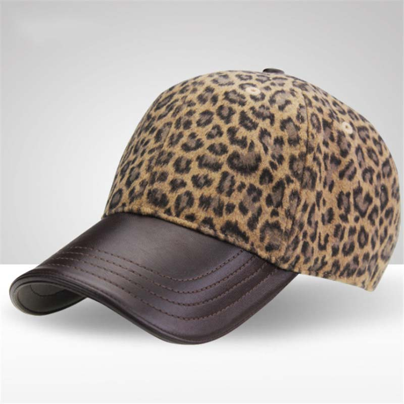 1ec630c5 New High Quality Women's Winter Hats Leopard print Baseball Cap Outside  Fashion Accessories Casquette Gorras Snapback