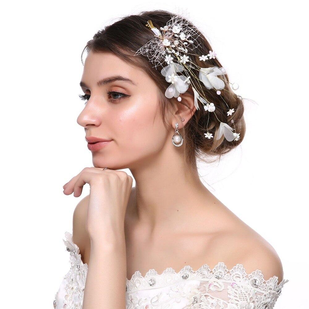 New Cute Elegant Women Pearl Hairpin Wedding Bride Handmade Hair Accessories
