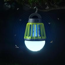 2-в-1 Кемпинг Фонари зарядка через usb светодиодный инсектицидная лампа Водонепроницаемый Выдвижной крюк и съемный абажур Фонари 0723