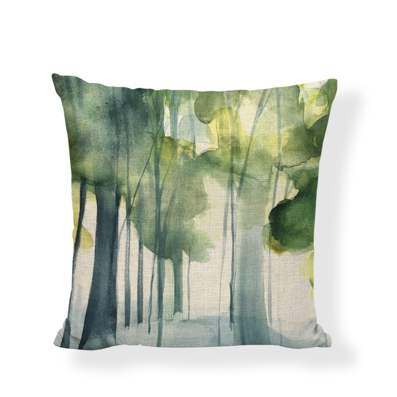Creative Doodle Pattern Lumbar Pillow Covers Decoration Home Bench Seats Watercolor Throw Pillow Cases Modern Art Cushion Covers
