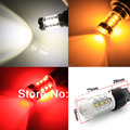 Free Shipping, 2pcs 80W 7440 7443 T20 W21W WY21W High Power 16 LED Car FRONT/REAR Turn Signal Light Bulb Amber/Red/White 12V 24V