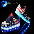 Led Shoes Kids USB Charging 7colors Boys Girls Luminate Glowing Sneakers Children Shoes With Light 25-37 tenis led infant