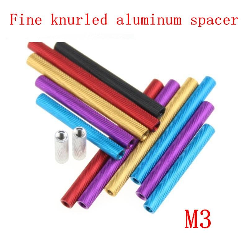 20 Pcs M3 Aluminum Standoff Column Spacer for RC Multirotors 20mm, Black