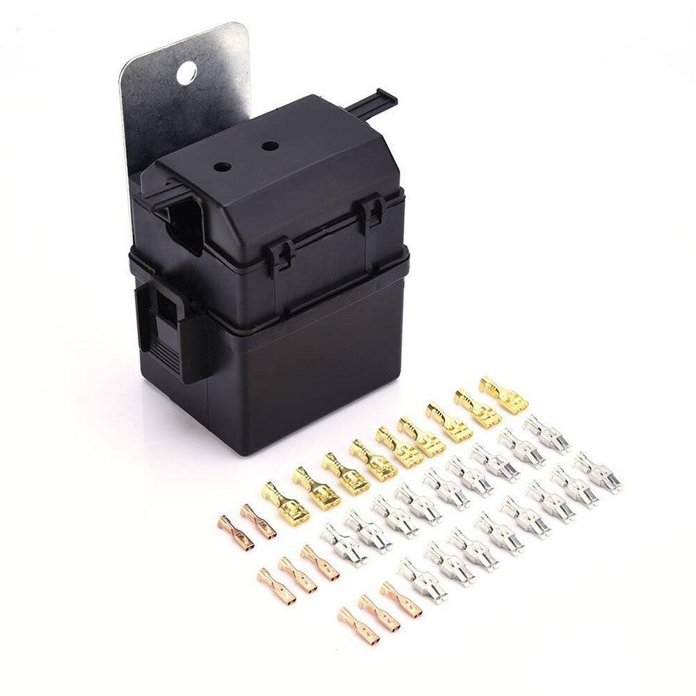 Auto Conjunto Caixa de Fusíveis Caixa de Fusíveis Do Carro Definir Com 2 Relé Lâmina Fusível Blocos Kits DC 12 V