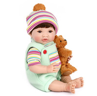 14 Inches 35cm Reborn Baby Doll Bebe Silicone Vinly Lifelike Boy Doll Toys Christmas Gift
