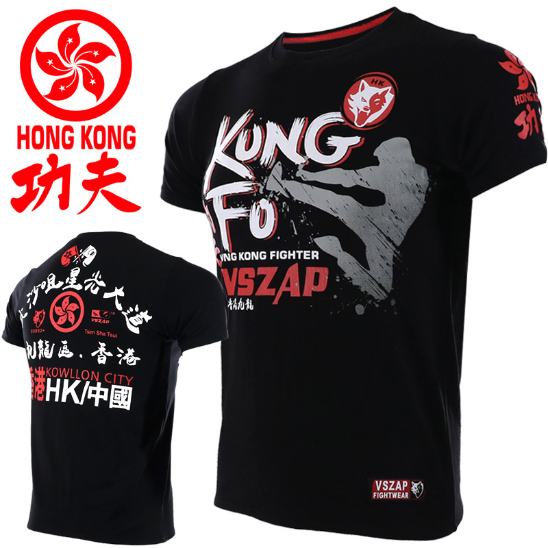 VSZAP MMA Fitness HongKong Kung Fu Tshirt Boxing Sports Sweater Boxing Jerseys Muay Thai Jerseys MMA Kick  Boxing Shorts Mma Sho