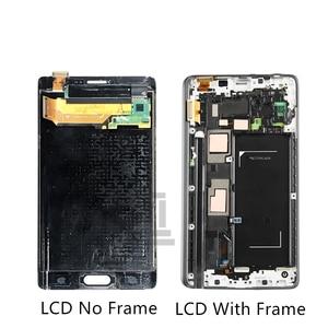 Image 2 - Super Amoled Voor Samsung Galaxy Note 4 Rand Lcd N915 N915FD N915F Lcd Touch Screen Digitizer Vergadering Met Frame Reparatie onderdelen