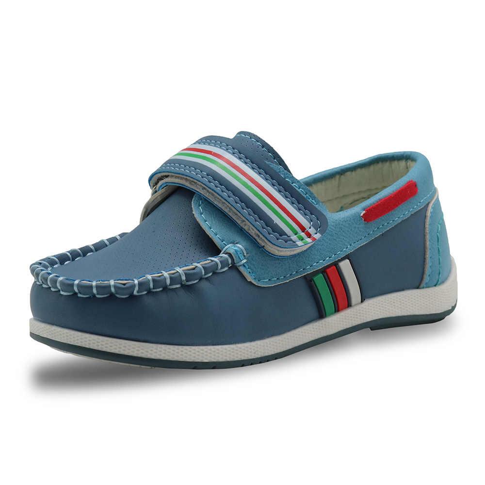 Apakowa แฟชั่นเด็กรองเท้าเด็ก Slip-on ชาย Loafers Oxford รองเท้าคัทเด็กวัยหัดเดินรองเท้าผ้าใบลำลอง PU หนังรองเท้า