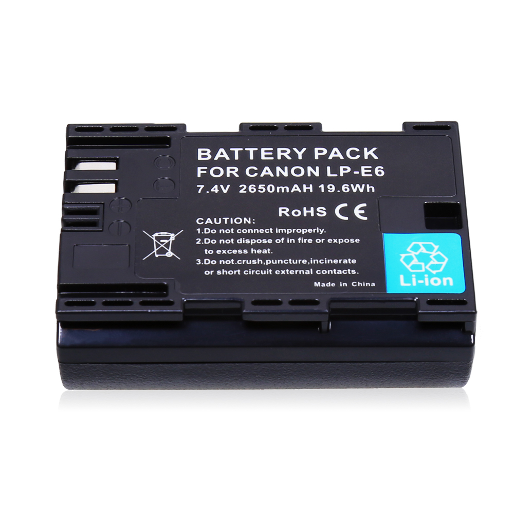 4PCS LPE6 LP E6 LP E6 E6N Battery LED USB Dual Charger for Canon EOS 60D 70D 5D Mark II 5D Mark III 5D Mark IV digital camera in Digital Batteries from Consumer Electronics