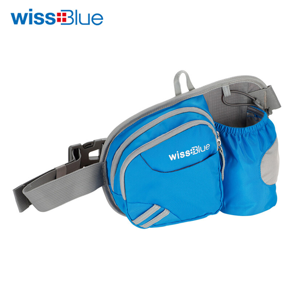 Wissblue Running Waist Belt Bag With Water Bottle Kettle Holder Riding Bike Cycling Bicycling Walking Waist Pack Waterproof