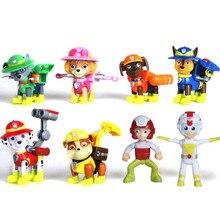8pcs/set Paw patrol toys set action figure anime paw toy patrulla canina birthday Gifts