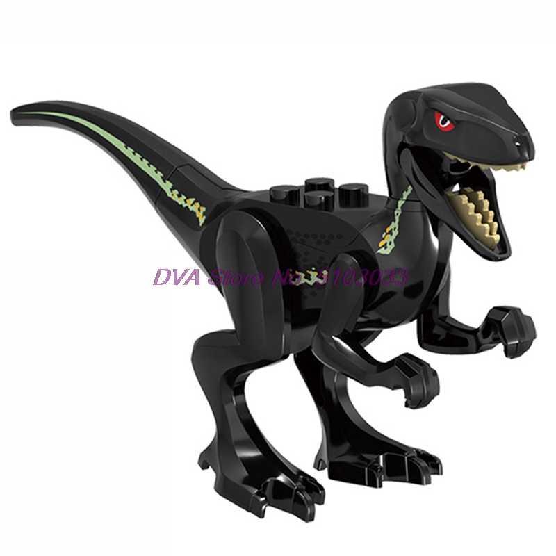 ジュラ紀の恐竜世界公園velociraptorスピノサウルスティラノサウルスレックスラプター保護建築ブロックセットのおもちゃ