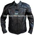 Бесплатная доставка Мужчины PU куртка, профессиональный гоночный куртка мотоциклетная куртка мотоцикла с 5 компл. защитное снаряжение и romove лайнер