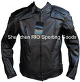 Free shipping Men PU jacket, professional racing jacket motorcycle jacket motorcycle with 5 sets protective gear & romove liner