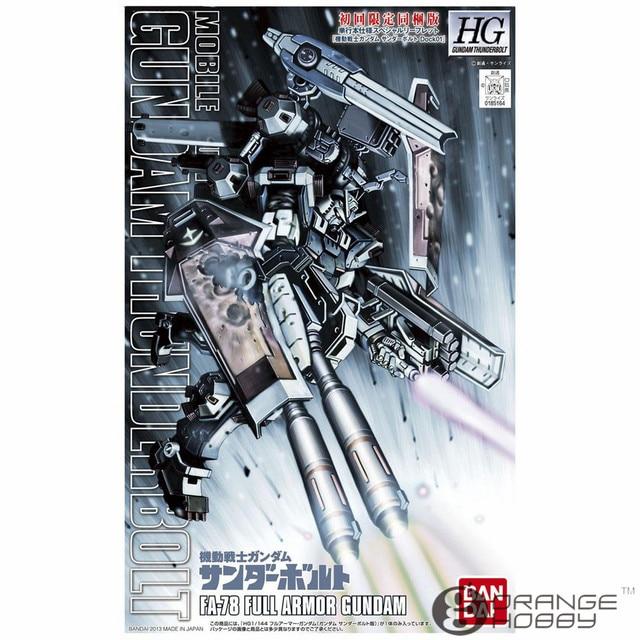 Ohs bandai hg thunderbolt 01 1/144 fa-78 completa armadura mobile suit gundam kits modelo de montagem