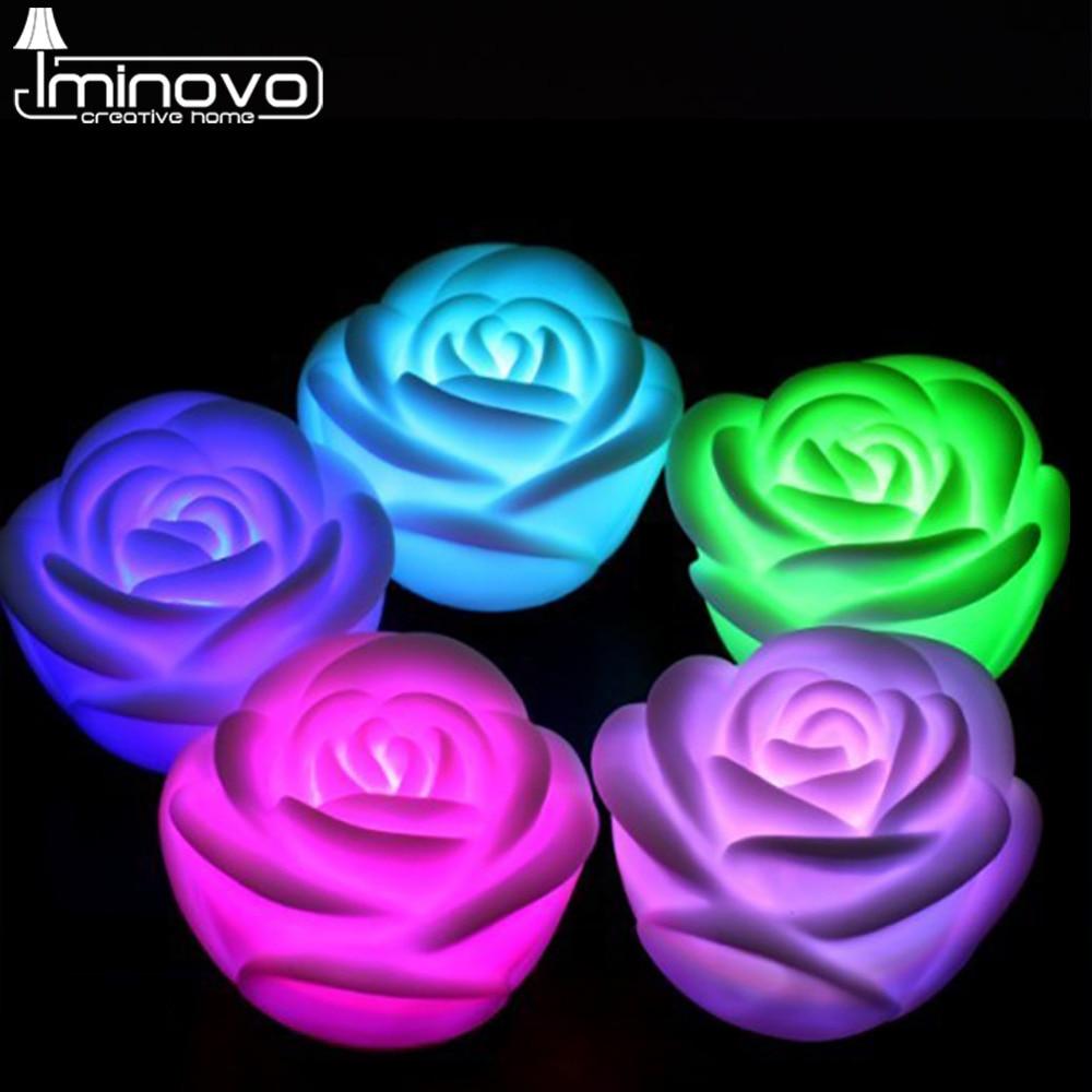 Luzes da Noite iminovo romantico rose flor colorida Potência : 0-5 w