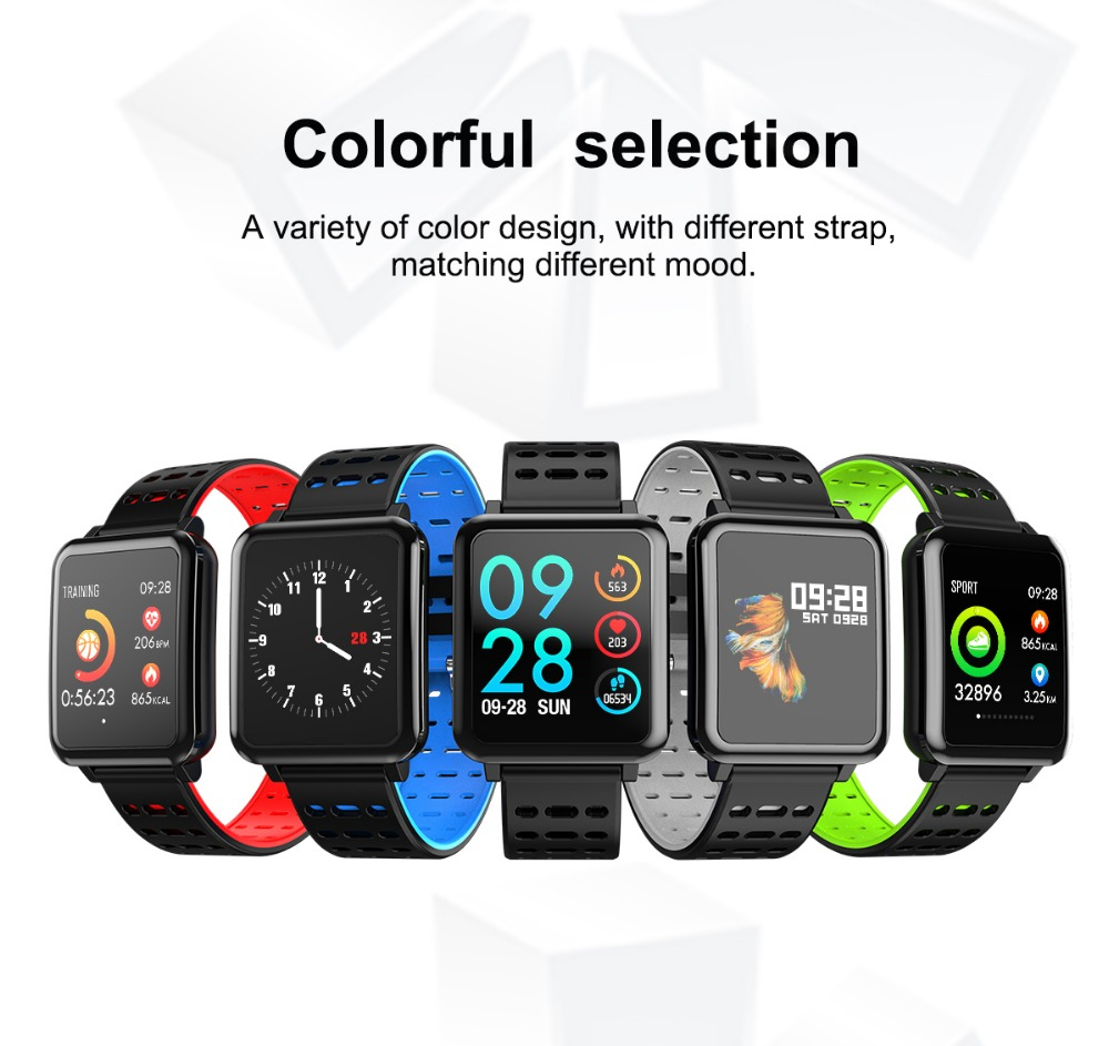 T2 Smartwatch IP67 Waterproof Wearable Device Bluetooth Pedometer Heart Rate Monitor Color Display Smart Watch For AndroidIOS (14)